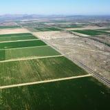 De antenne van de landbouwgrond. Stock Foto's