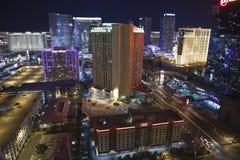De Antenne van de Nacht van Vegas Royalty-vrije Stock Fotografie