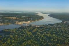 De Antenne van de Rivier van de Mississippi Royalty-vrije Stock Foto