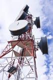 De antenne van de telecommunicatie stock foto