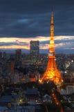 De antenne van de Toren van Tokyo, Tokyo, Japan Stock Afbeelding