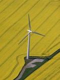 De antenne van de Turbine van de wind Stock Afbeeldingen