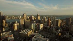 De Antenne van Detroit stock videobeelden