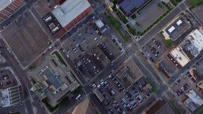 De Antenne van Detroit stock footage
