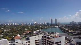 De antenne van het de vogelsoog van Miami stock videobeelden