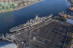 De Antenne van het het Slagschipmuseum van USS Iowa Stock Foto