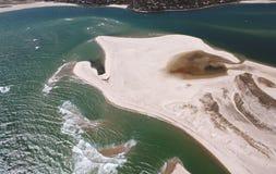 De Antenne van het Strand van het noorden in Chatham, de Kabeljauw van de Kaap Royalty-vrije Stock Foto