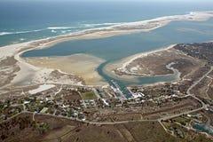 De antenne van het Strand van het zuiden in Chatham, de Kabeljauw van de Kaap Stock Fotografie