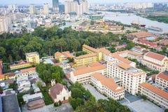 De antenne van Ho-Chi-Minh-Stad, Vietnam Royalty-vrije Stock Afbeelding
