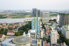 De antenne van Ho-Chi-Minh-Stad, Vietnam Royalty-vrije Stock Foto's