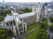 De antenne van Londen Westminster Abbey Skyline Royalty-vrije Stock Foto