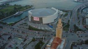 De Antenne van Miami stock videobeelden