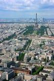 De antenne van Parijs en de toren van Eiffel Stock Foto