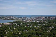 De Antenne van Portland Maine stock foto