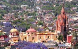 De antenne van San Miguel de allende Stock Afbeeldingen