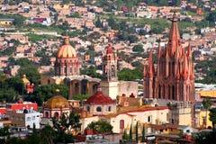 De antenne van San Miguel DE Allende Stock Foto's