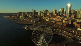 De Antenne van Seattle stock footage