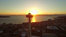 De Antenne van Seattle stock footage