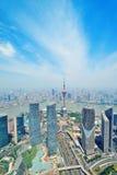 De antenne van Shanghai stock foto