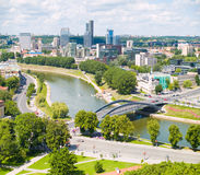 De Antenne van Vilnius stock fotografie