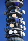 De antennes van telecommunicatie Stock Foto