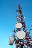 De antennes van Telecomunications royalty-vrije stock foto's