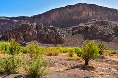 De anti-atlas is de oudste bergketen in Marokko stock foto
