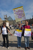 De anti-nucleaire Demonstratie van de Energie, Parijs Stock Afbeeldingen