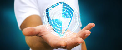 De antibescherming van het virusschild Stock Foto's