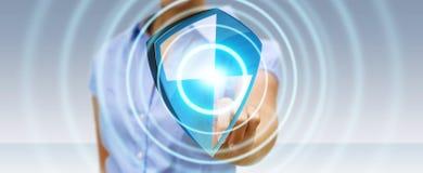 De antibescherming van het virusschild Stock Afbeeldingen