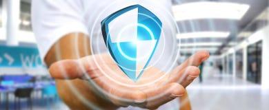 De antibescherming van het virusschild Stock Fotografie