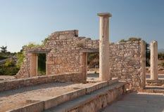 De antic ruïne van Cyprus Griekenland Royalty-vrije Stock Fotografie