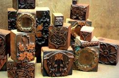 De antieke Blokken van de Druk van het Koper Royalty-vrije Stock Foto's