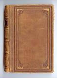 De antieke dekking van het leerboek Stock Fotografie
