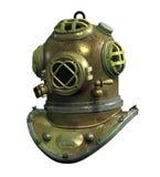 De antieke Helm van de Scuba-uitrusting - met het knippen van weg Stock Foto