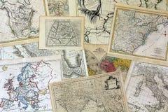 De antieke Inzameling van de Kaart Stock Foto's