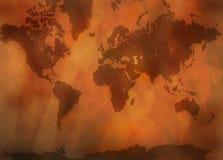 De antieke Kaart van de Wereld stock illustratie