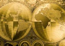 De Antieke Kaart van de wereld stock foto's