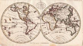De Antieke Kaart van uitstekende kwaliteit Royalty-vrije Stock Afbeeldingen