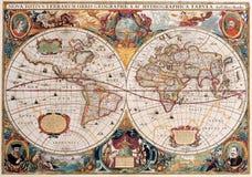 De Antieke Kaart van uitstekende kwaliteit royalty-vrije illustratie