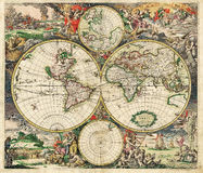 De Antieke Kaart van uitstekende kwaliteit Stock Fotografie