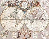 De Antieke Kaart van uitstekende kwaliteit Stock Afbeeldingen