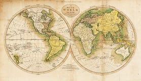 De Antieke Kaart van uitstekende kwaliteit Stock Foto's