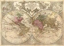 De Antieke Kaart van uitstekende kwaliteit Royalty-vrije Stock Foto