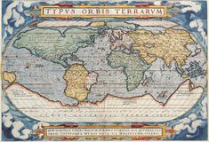 De Antieke Kaart van uitstekende kwaliteit Stock Foto