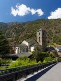 De antieke Kerk in Andorra Stock Afbeeldingen