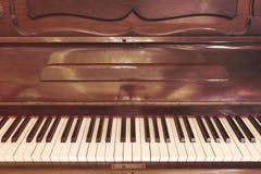 De antieke klassieke toon van de pianostijl stock fotografie