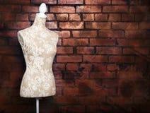 De antieke kledingsvorm met wijnoogst ziet eruit Stock Afbeeldingen
