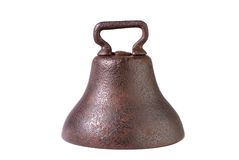 De antieke Klok van de Koe van het Smeedijzer stock afbeelding