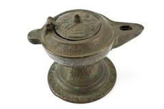 De antieke lamp van de bronsolie Royalty-vrije Stock Foto's